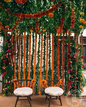 Budget décor ideas | Lockdown weddings | Indian wedding décor | Marigold flower decor
