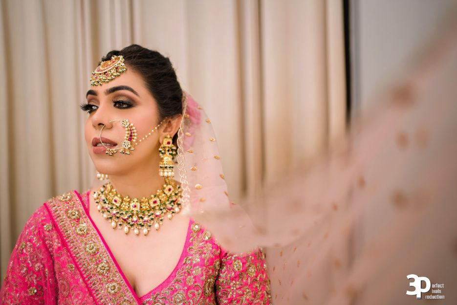 bride and pets , pink lehenga , indian wedding , Indian wedding , pink lehenga , couple moments , indian brides