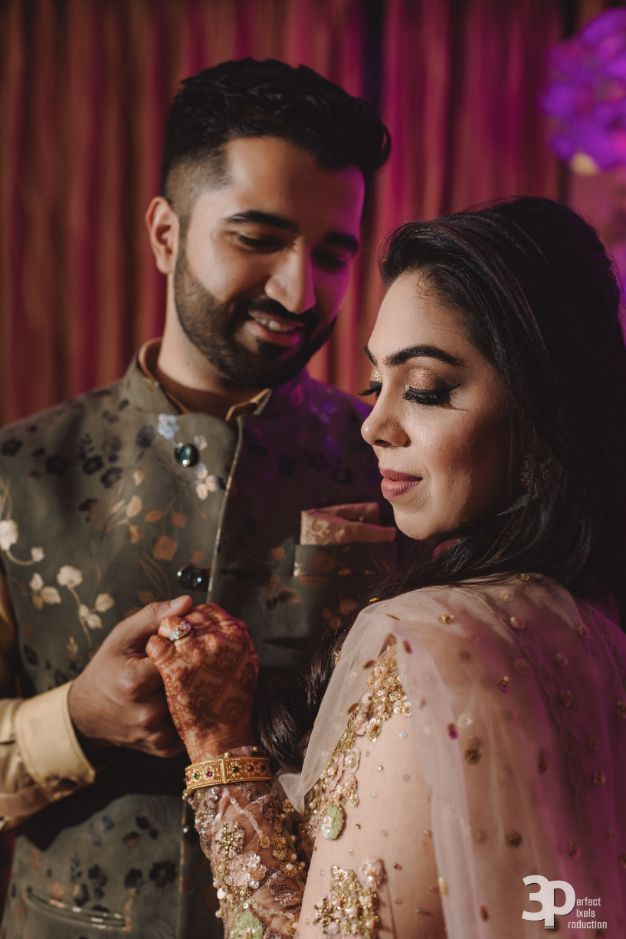 indian wedding , Indian wedding , pink lehenga , couple moments , indian brides