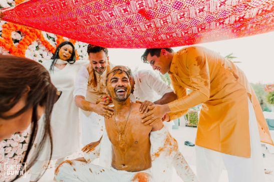 indian groom   haldi ceremony   photography ideas
