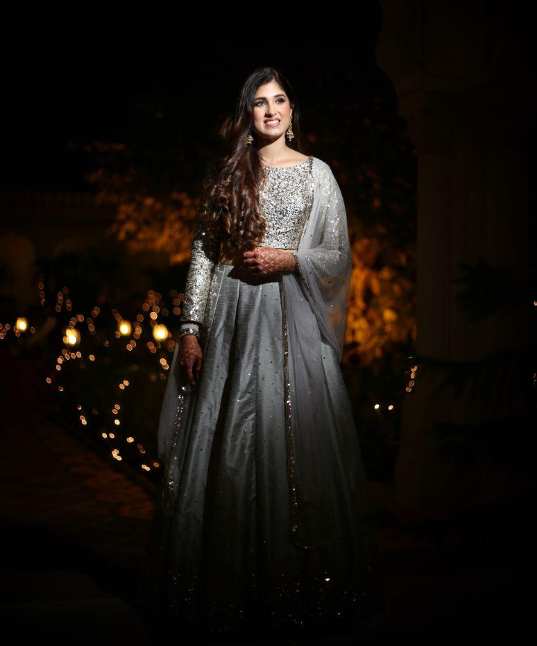 bridal outfit ideas | happy bride