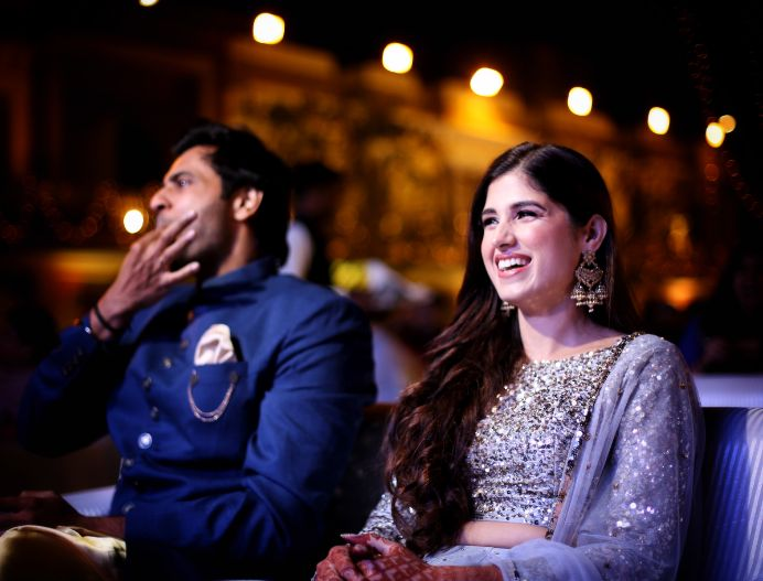 candid moments | indian sangeet ceremony