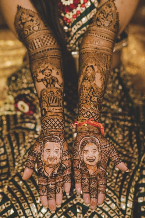 mehendi , bridal mehendi design , indian wedding, green lhenega , bridal lehenga , 2020 wedding , destination wedding , intimate wedding | Wedding in Jim Corbett