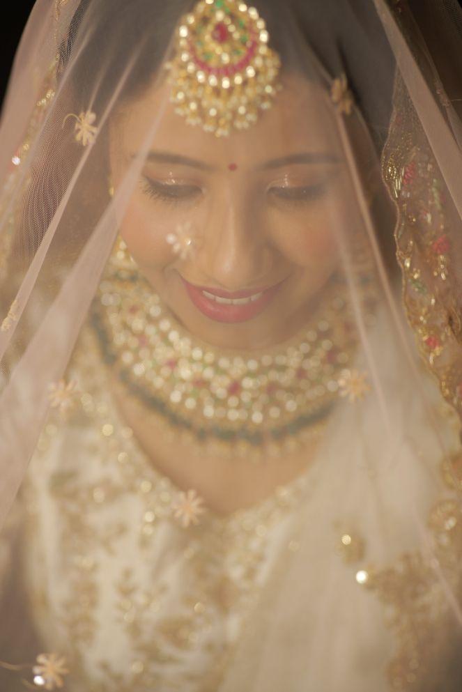 bridal veil shots   bridal photography ideas   Intimate Wedding in Jim Corbett