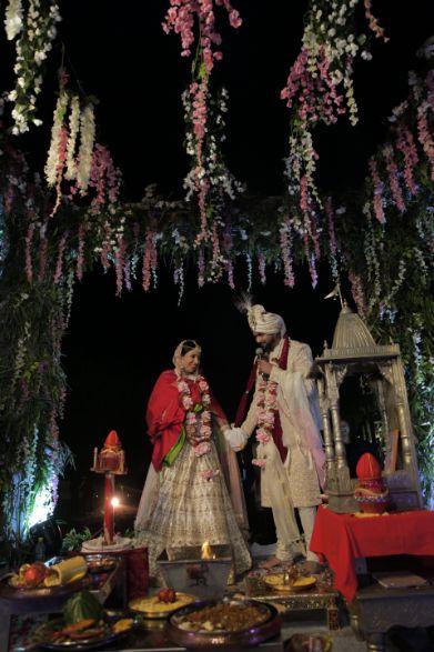 mandap decor ideas   indian couple shoot ideas   Intimate Wedding in Jim Corbett