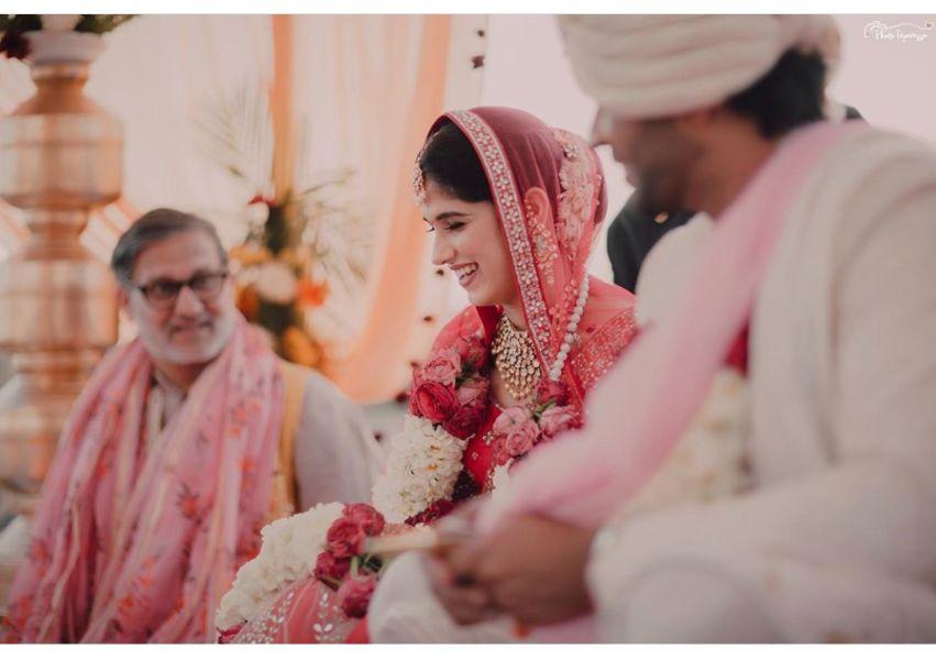 couple at their phera ceremony | wedding diaries