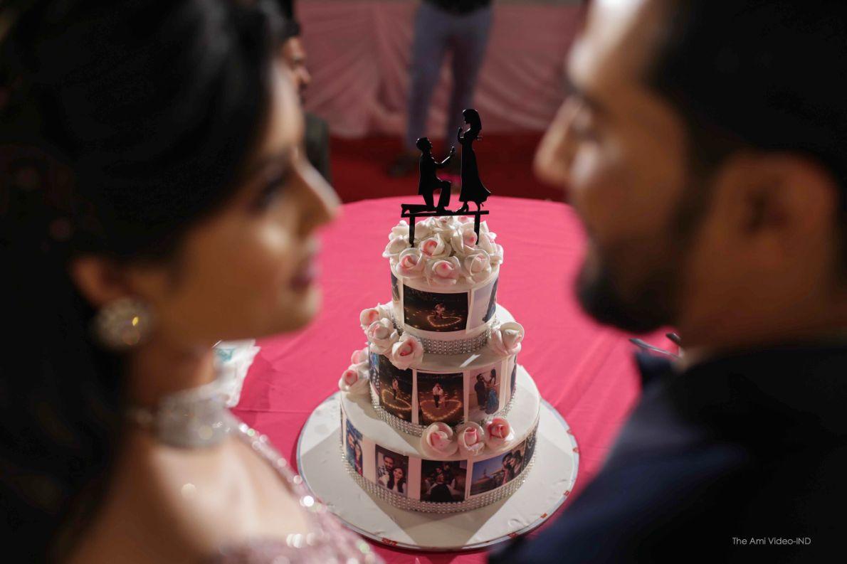 cake , indian wedding , bridal henna , red lehenga , indian wedding blog , Gujarati wedding   fairytale reception   wedding cake