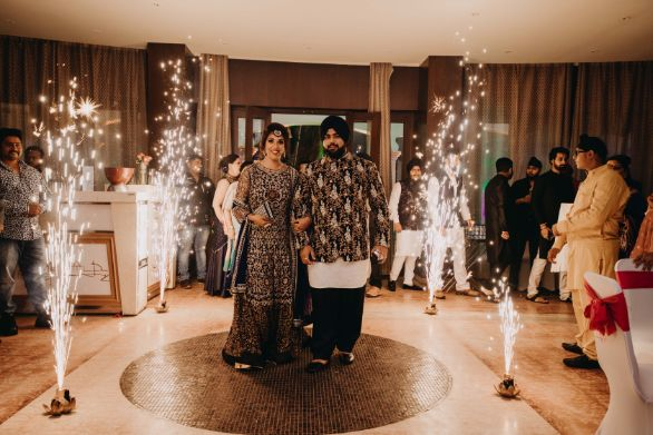 gorgeous couple entry ideas from indian wedding diaries