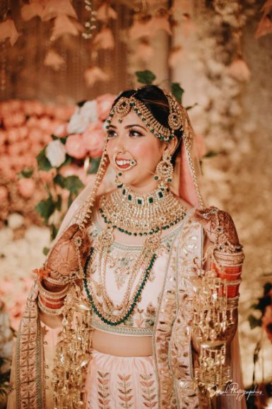 indian bride at her wedding ceremony | bridal details |