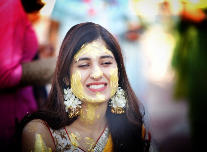 cute bride with the most adorable smile