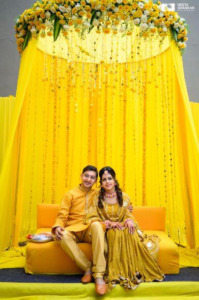couple photography ideas | haldi day decor |