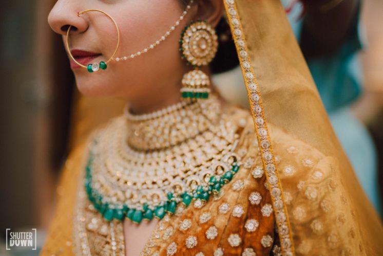 statement jewellery for indian bride   Destination wedding in Fujairah