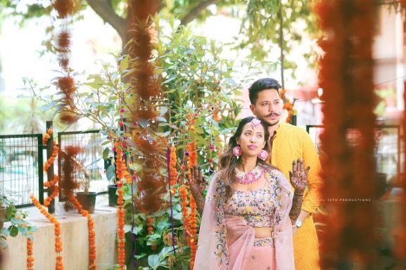mehendi outfit , indian wedding , indian bride , red lheenga , sabyasachi lehenga , quarantine wedding | bridal mask | wedding outfits