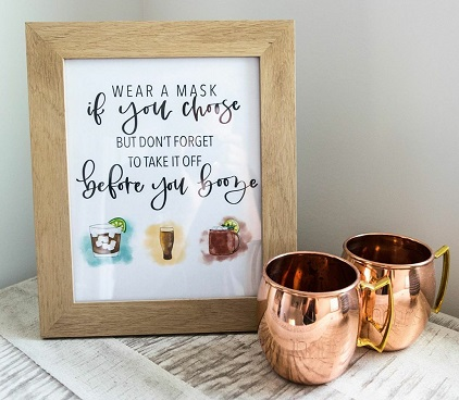 Cute signages for bar   Intimate Indian wedding