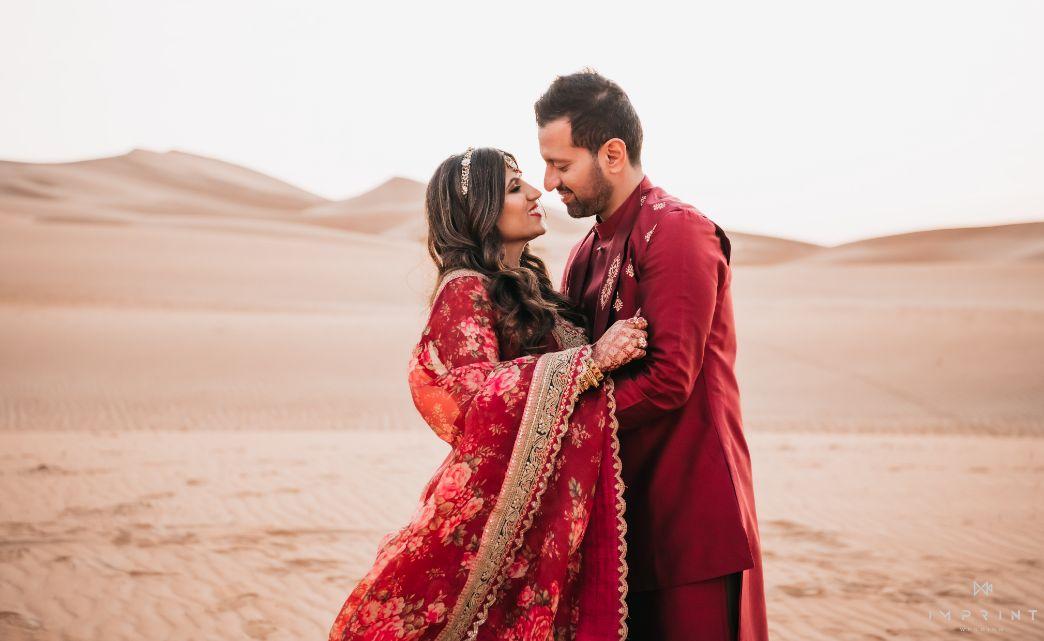 couple photoshoot ,indian wedding , destination wedding in india , red lehenga , bridal details ,  Sabyasachi lehenga | wedding in Abu Dhabi|