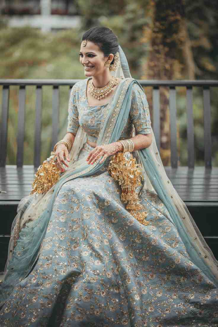 powder blue lehenga | pastel lehenga | bridal lehenga