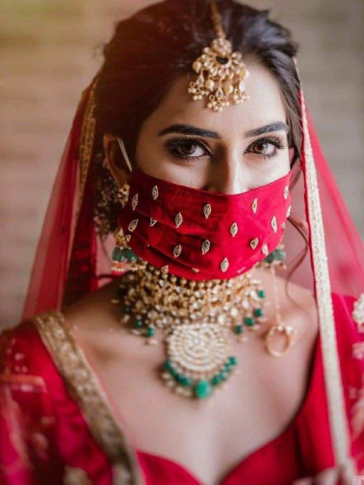 bridal masks | minimal look