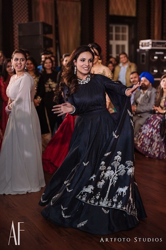 Sangeet night | Dupatta drapes | Cocktail outfits