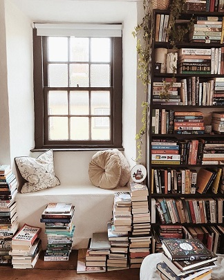 Reading corner | Library | Indian couples | newlywed |