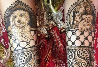 mehendi with dogs