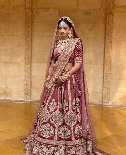bridal lehengas | pink lehenga