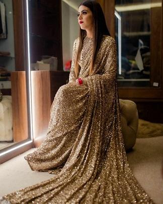 Golden saree | sabhyasachi saree