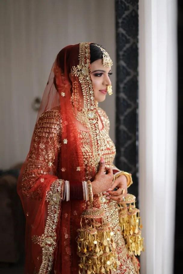 indian wedding , lehenga , orange lehenga | full sleeves blouse | goat work