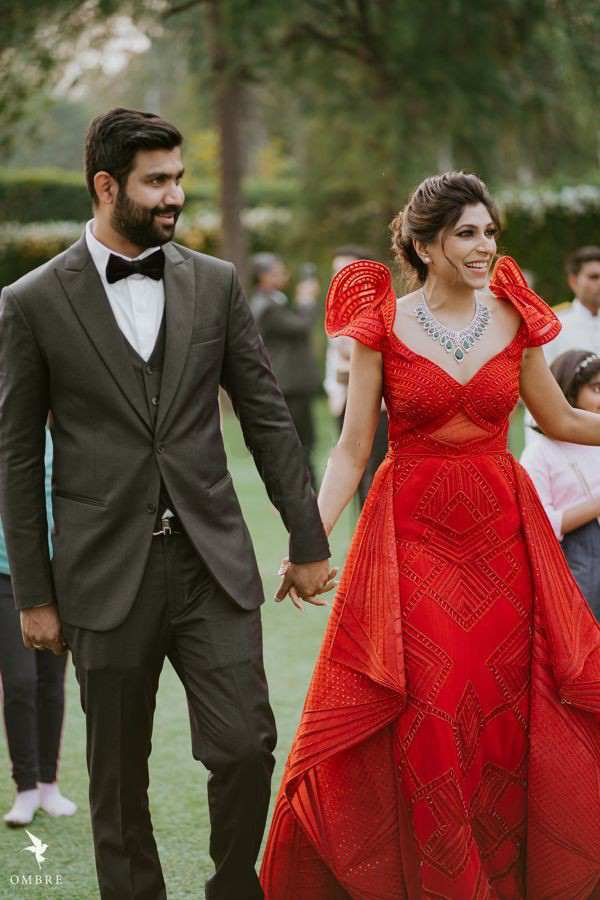 couple outfits | red gown