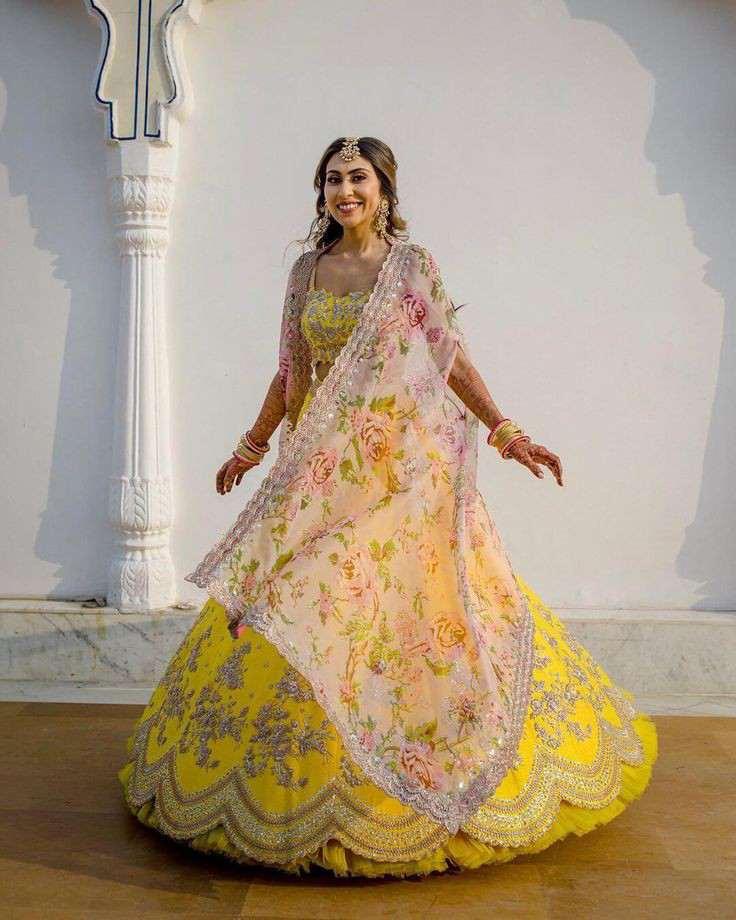 zodiac sign | 2021 brides | yellow lehenga