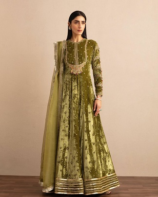 Green Anarkali for Lohri | first lohri