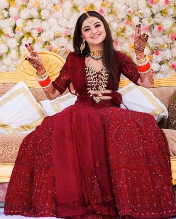 indian brides | belted outfits | bridal belted outfits
