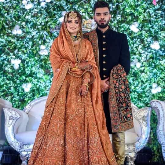 orange bridal outfits | muslim weddings