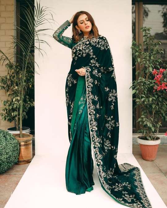 floral printed sarees | bridal saree