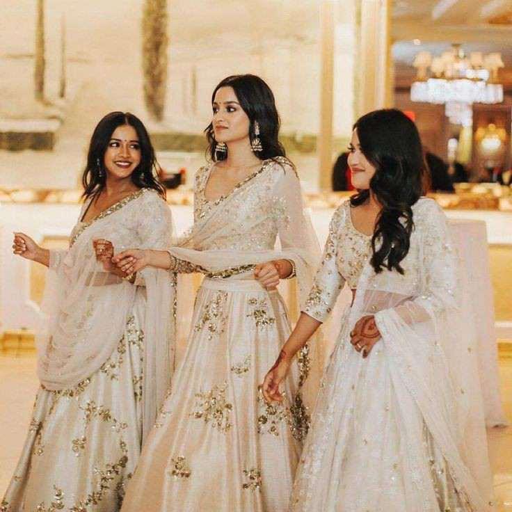 bridesmaids | white wedding