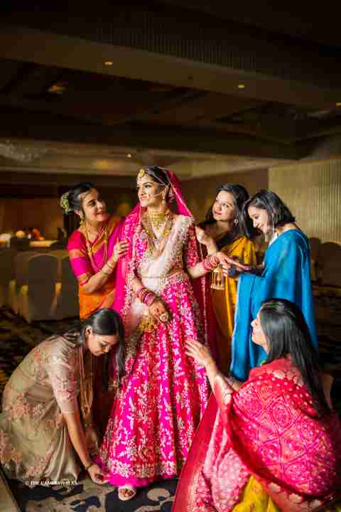 bridesmaids | colourful mehendi decor ideas