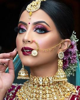 Stunning Indian bridal makeup artist