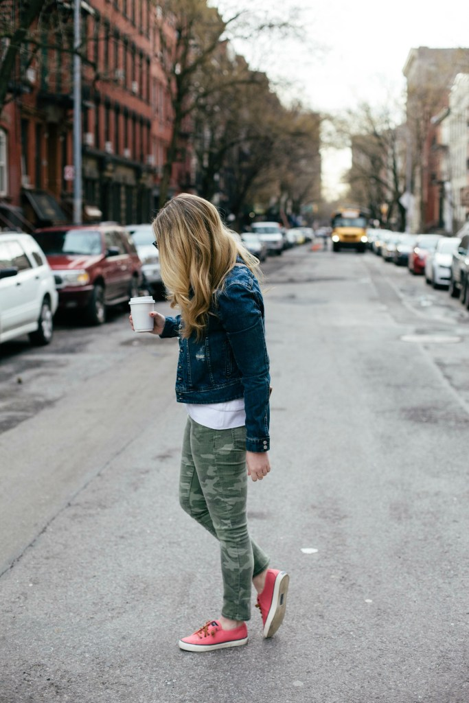 camo + denim I wit & whimsy