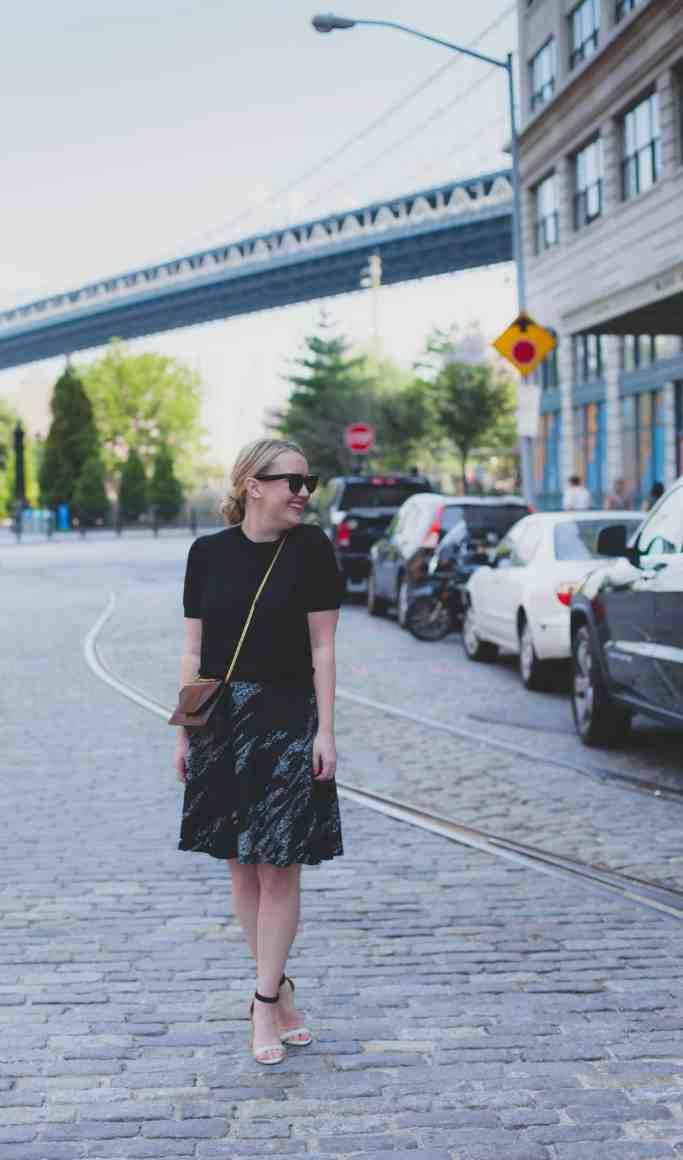 bcbg skirt I joie heels I wit & whimsy
