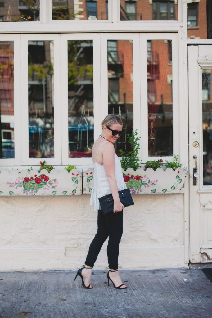 wit & whimsy I peplum top and jeans I east village