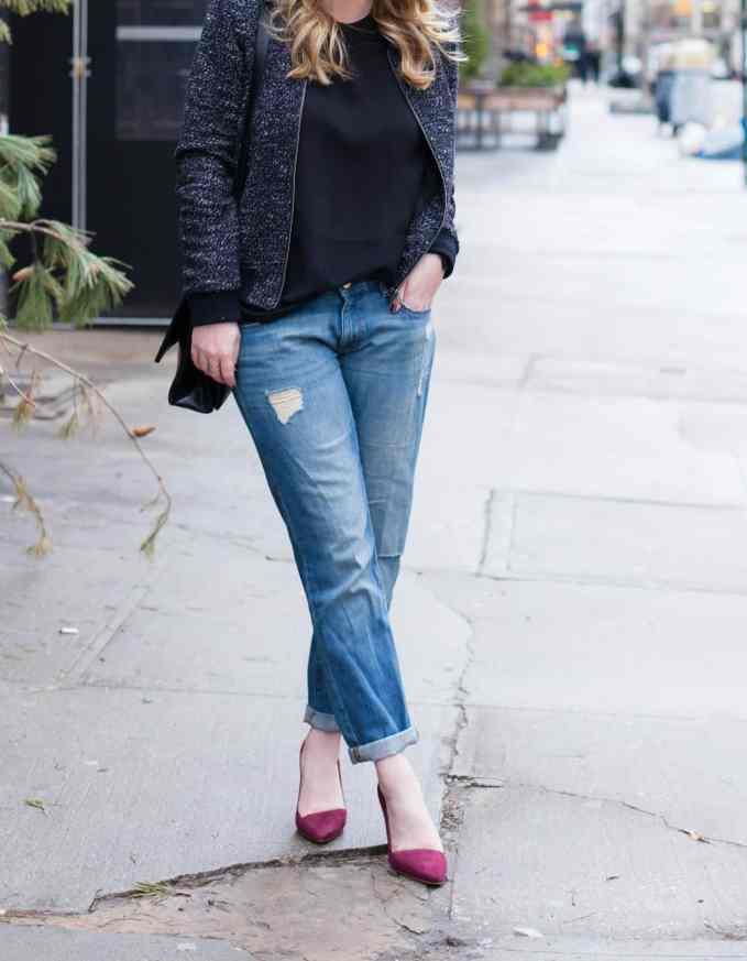 Boyfriend Jeans + A Bomber Jacket