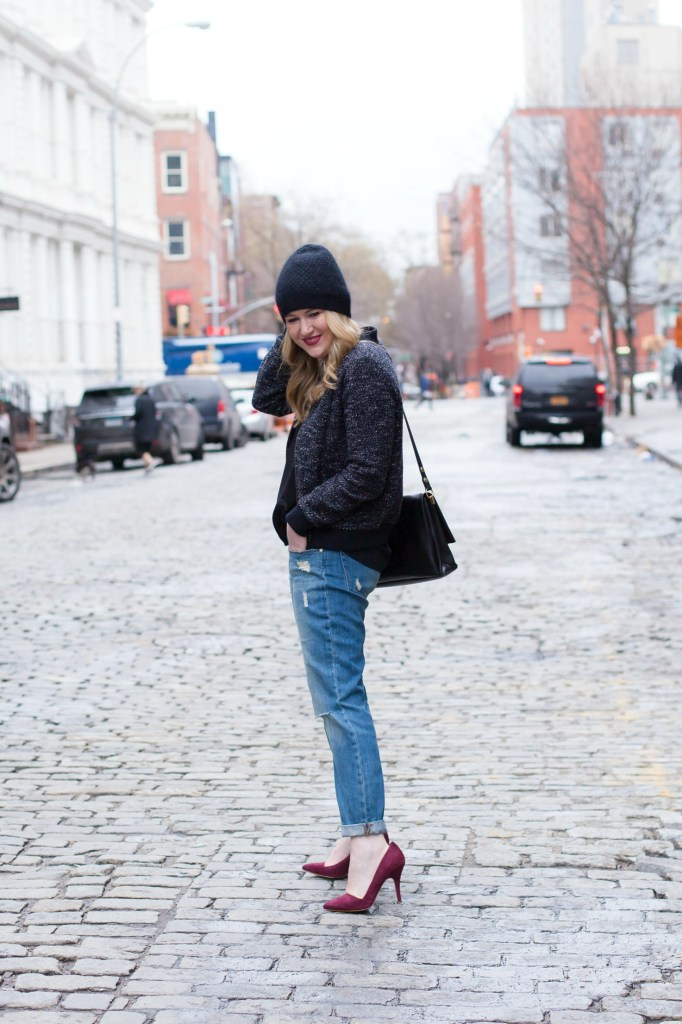 Boyfriend Jeans + Bomber Jacket I wit & whimsy