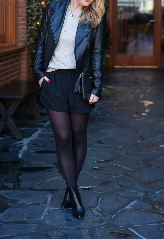 Styling Shorts with tights