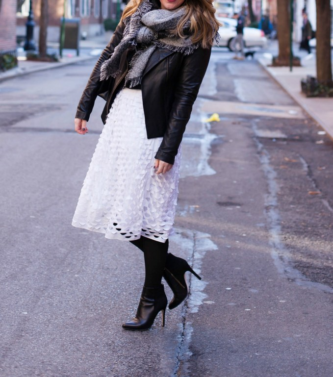 Styling a Midi Skirt in Winter