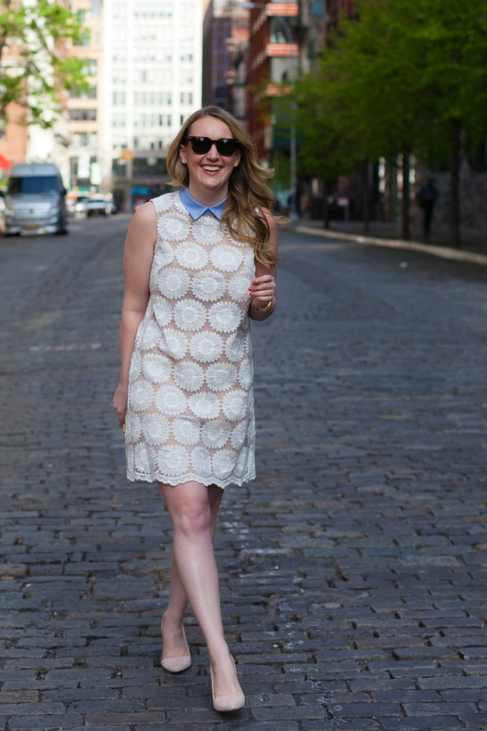 Lace Dress with Collar I Meghan Donovan