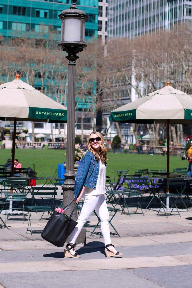 Springtime outfit in Bryant Park