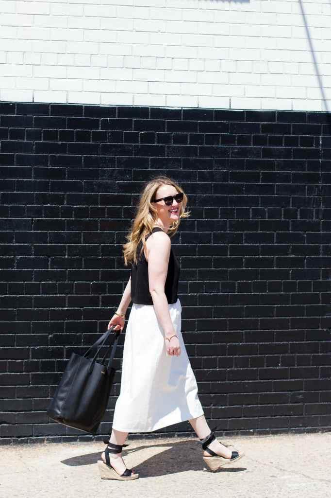 Black + White Springtime Style