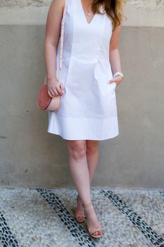 Easy White Poplin Dress I wit & whimsy