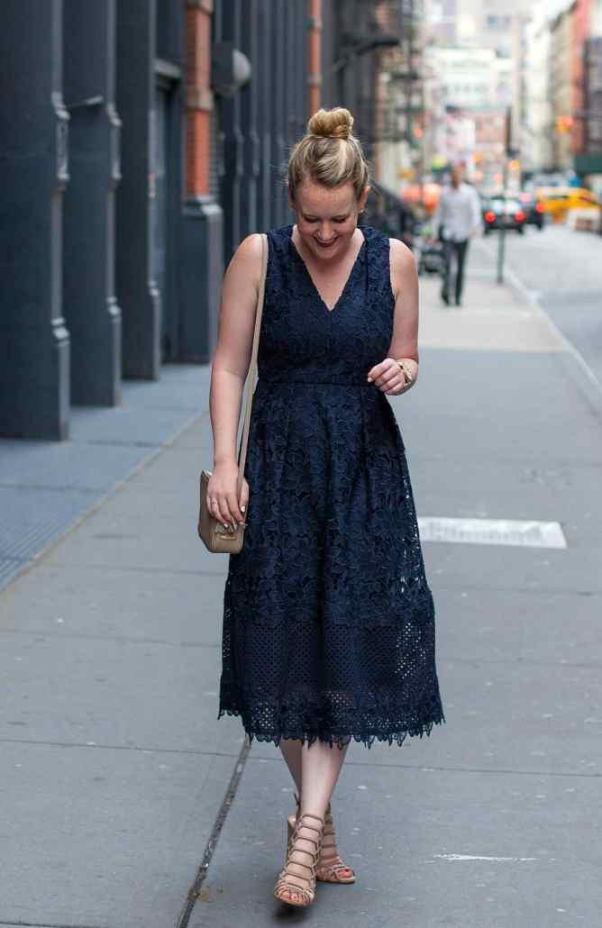 Lace Midi Dress in Soho I wit & whimsy