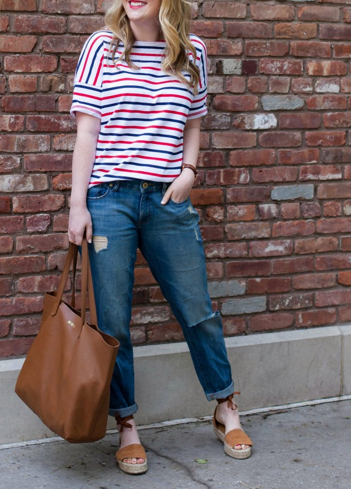 Striped Tee I Boyfriend Jeans