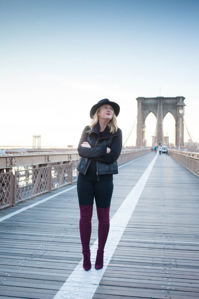 Black and Burgundy Fall Style